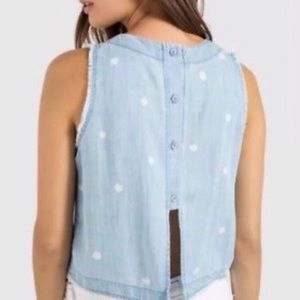 Anthropologie Tops - Anthropologie Cloth & Stone Chambray Crop Tank